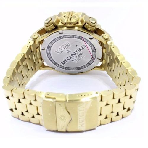 relógio invicta venom hybrid 16804 dourado top original top.