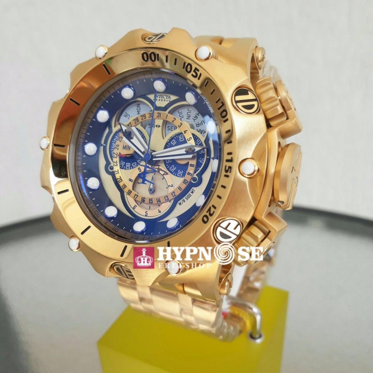 eed76a25bcb relógio invicta venom hybrid 16804 original banho ouro 18k. Carregando zoom.