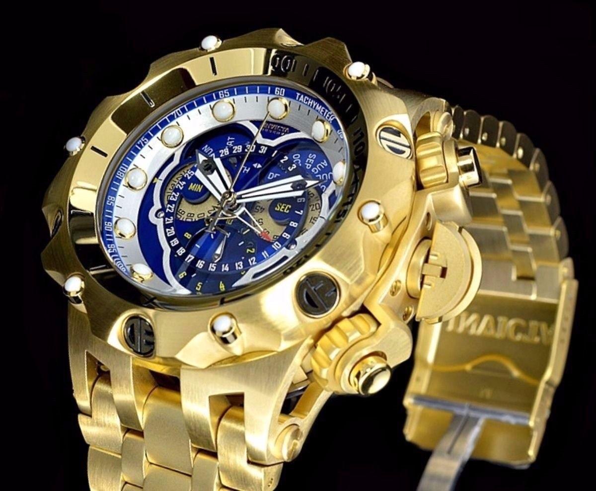 2e7207878cb relógio invicta venom hybrid 16805 dourado azul hbd 20. Carregando zoom.