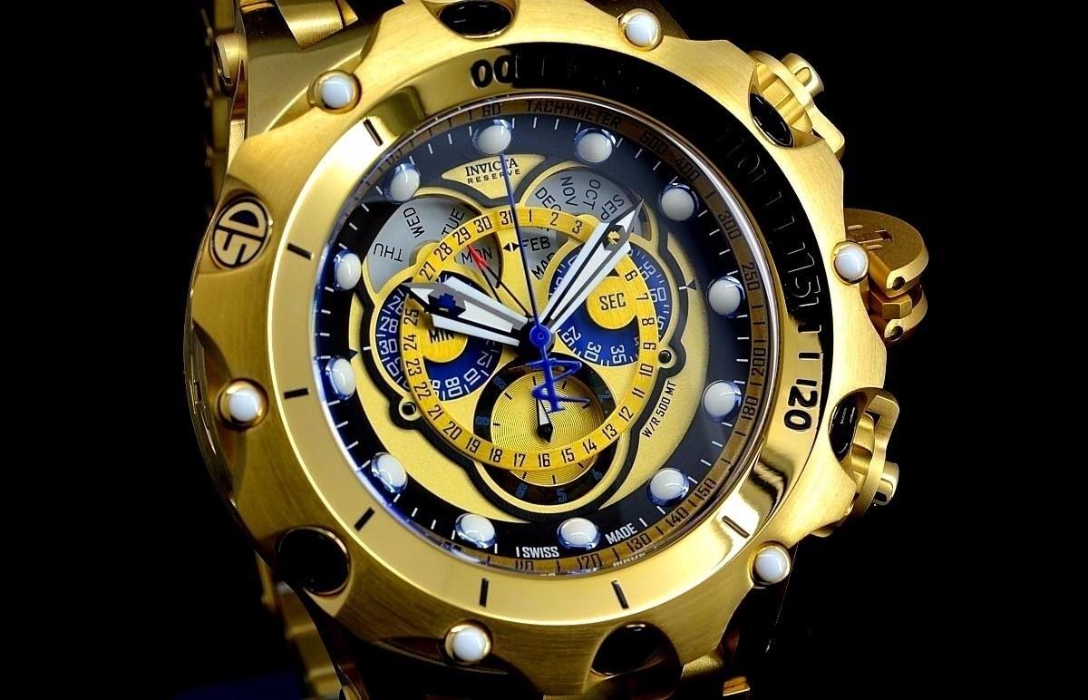 bd60ae35969 relógio invicta venom hybrid original dourado escovado luxo. Carregando zoom .