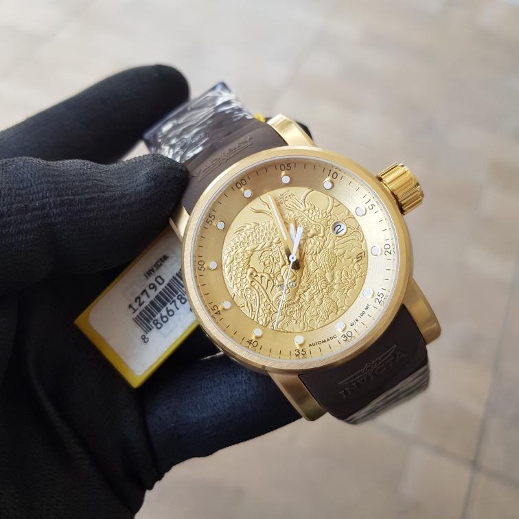a43d8dcff3a Relógio Invicta Yakuza 12790 Banho Ouro 18k Pul.borracha - R  899