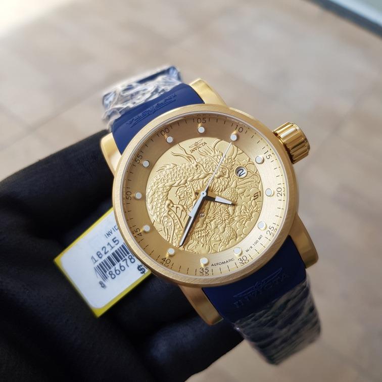852596a6c3f Relógio Invicta Yakuza 18215 Original Banho Ouro 18k - R  899