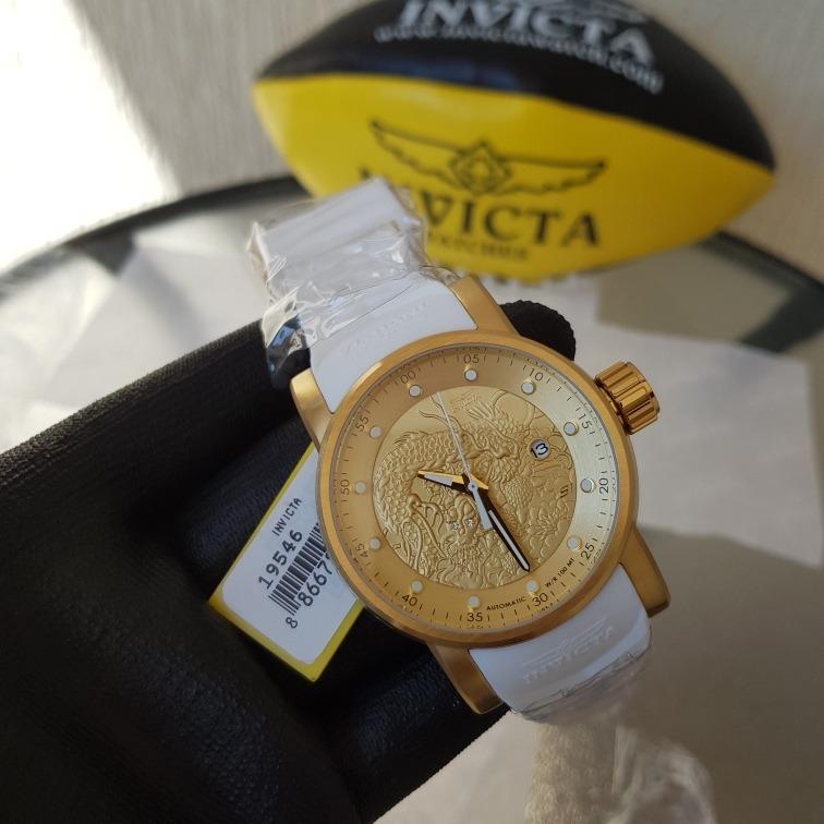 8c13397fe8e relógio invicta yakuza 19546 - dourado branco masculino · relógio invicta  masculino. Carregando zoom.