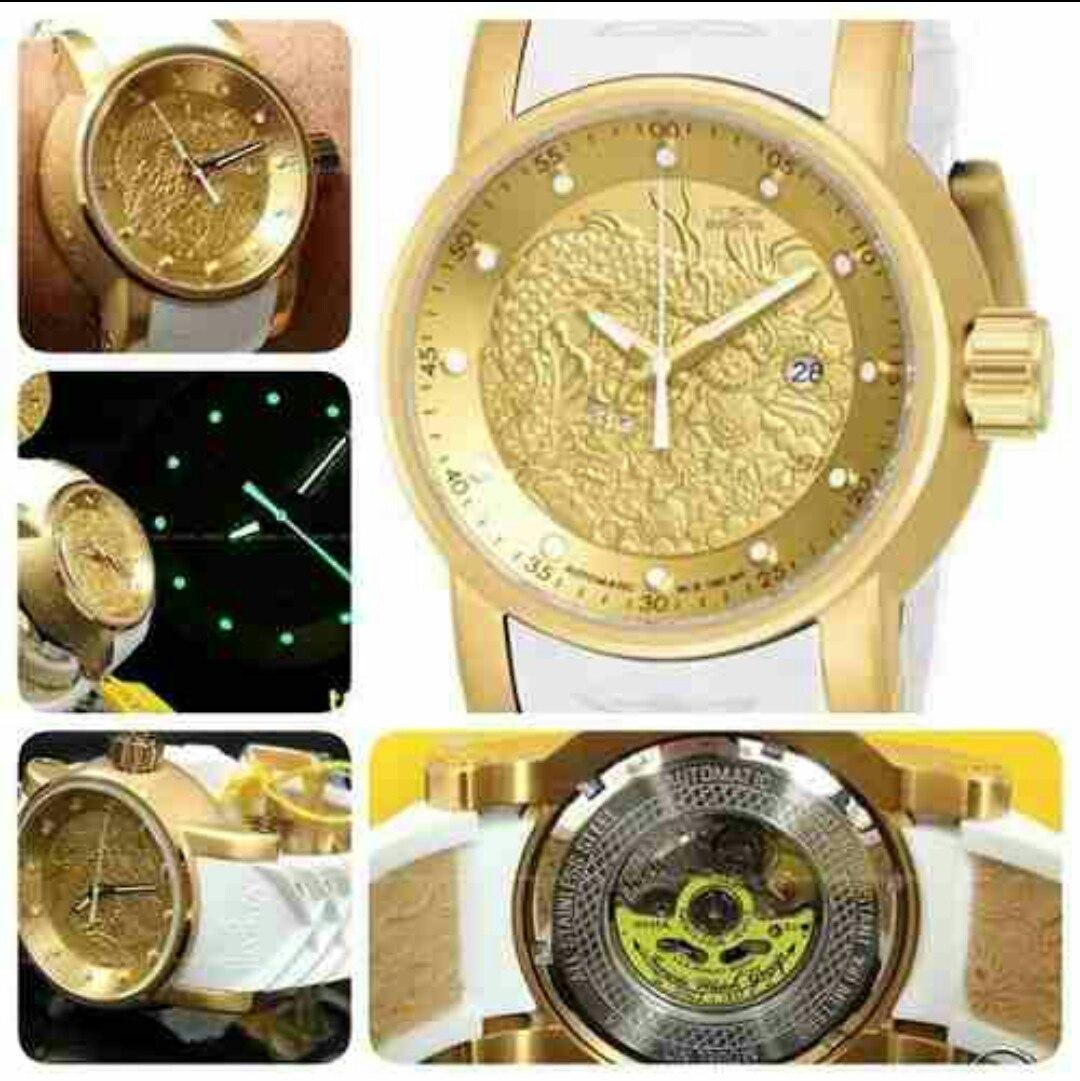 deb7bd69936 relógio invicta yakuza- 19546 - dourado - garantia de 1 ano. Carregando  zoom.