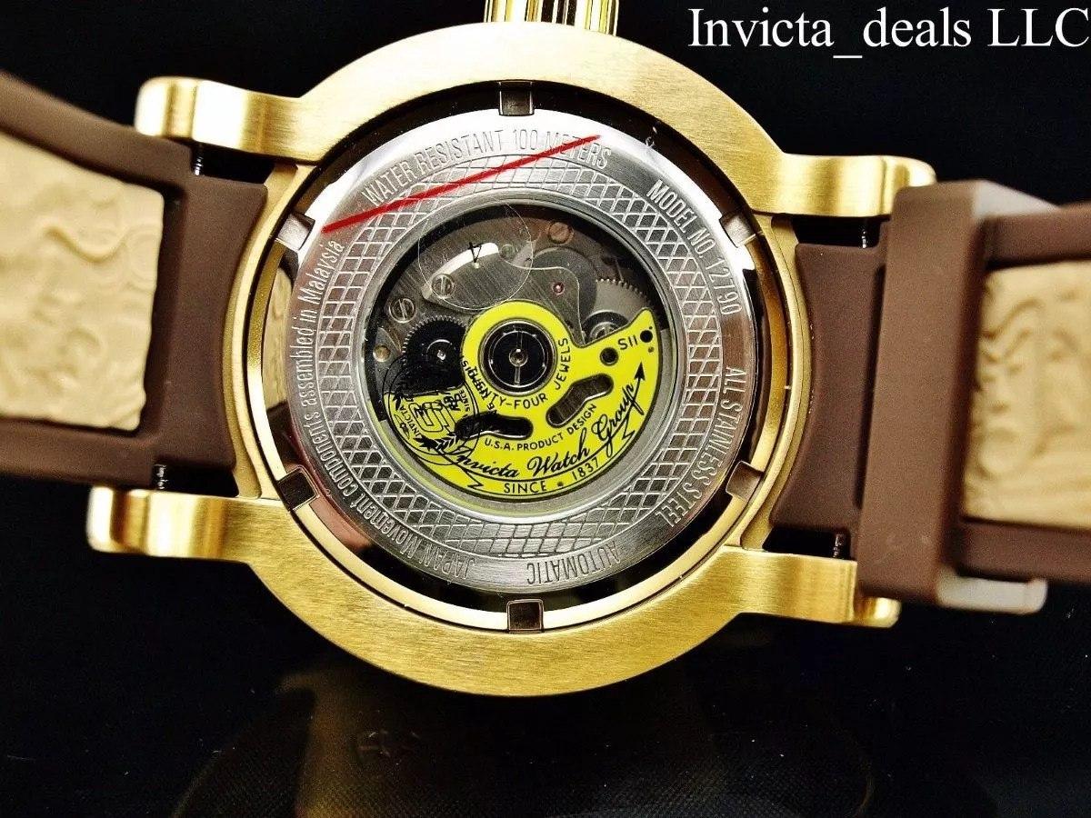 020a3e21080 relógio invicta yakuza automático 12790 banhado ouro 18k. Carregando zoom.
