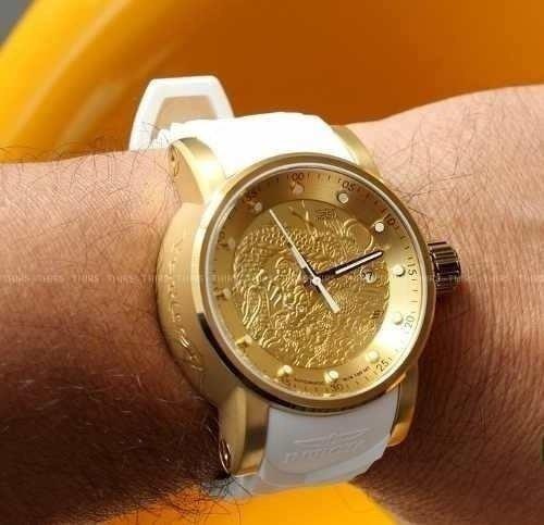 relógio invicta yakuza banhado a ouro 18k com nota fiscal