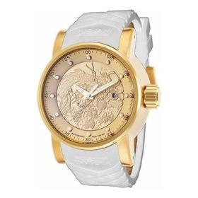 Relógio Invicta Yakuza Banhado A Ouro 18k Na Caixa