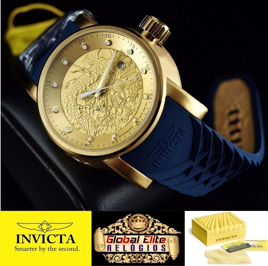 dd4e92d6e90 relógio invicta yakuza masculino 18215 - original   ouro 18k. Carregando  zoom.