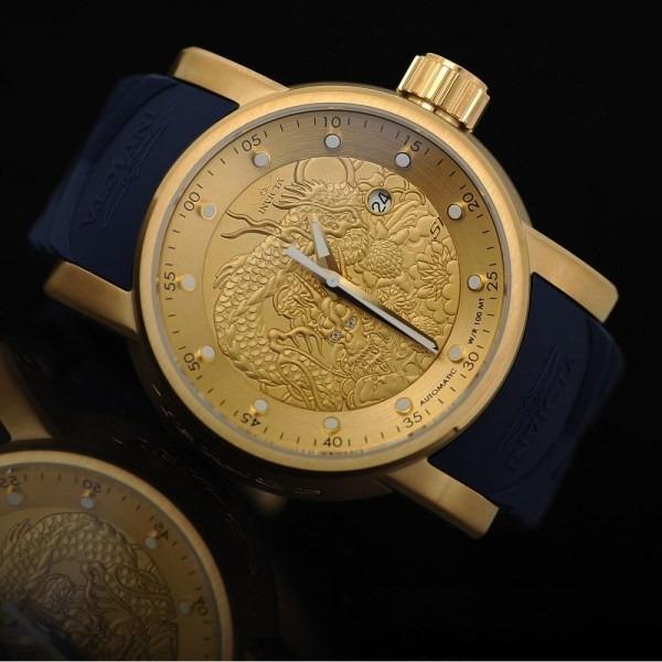 bf1fd0f31f4 Relógio Invicta Yakuza Masculino 18215 - Original   Ouro 18k - R ...