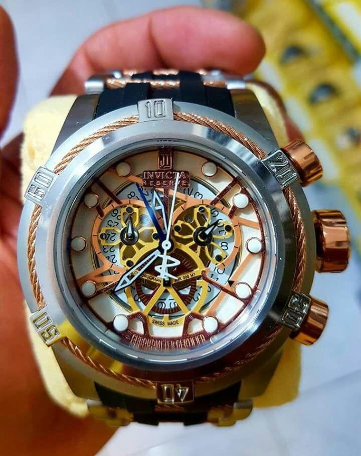 ea01f11f40f Relógio Invicta Zeus Bolt Skeleton - R  750