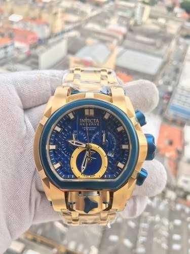 5e1996603d0 Relogio Invicta Zeus Magnum 20111 Dourado Azul Original Novo - R ...