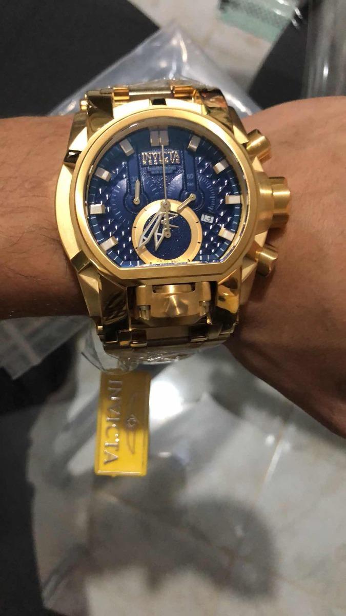 c5f816781ee relógio invicta zeus magnum dourado azul 25210 top top. Carregando zoom.