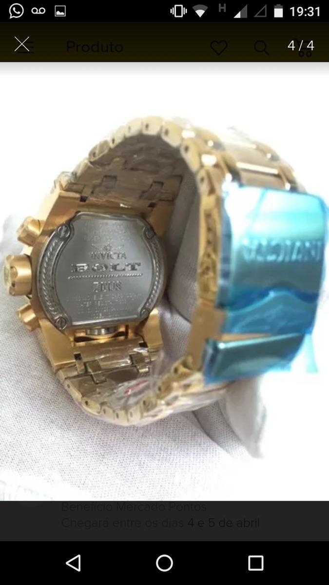14a0fa77ee6 relógio invicta zeus magnum dourado promoção mais barato. Carregando zoom.