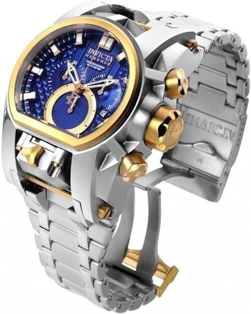 4e248b64577 Relógio Invicta Zeus Magnum Prata Azul 25207 Zeus Bolt Novo - R  650 ...