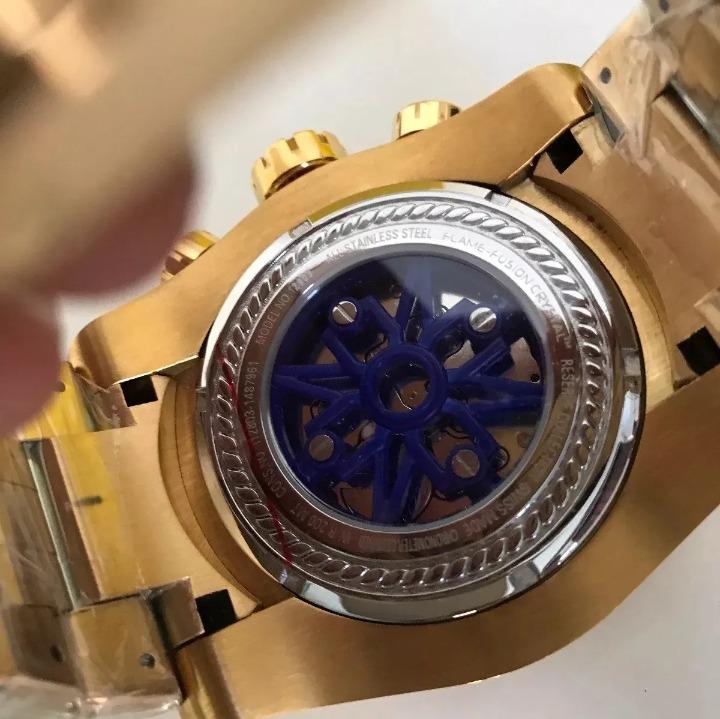 874269bfca3 Relógio Invicta Zeus Skeleton 12903 Gold Original Promoção!! - R ...