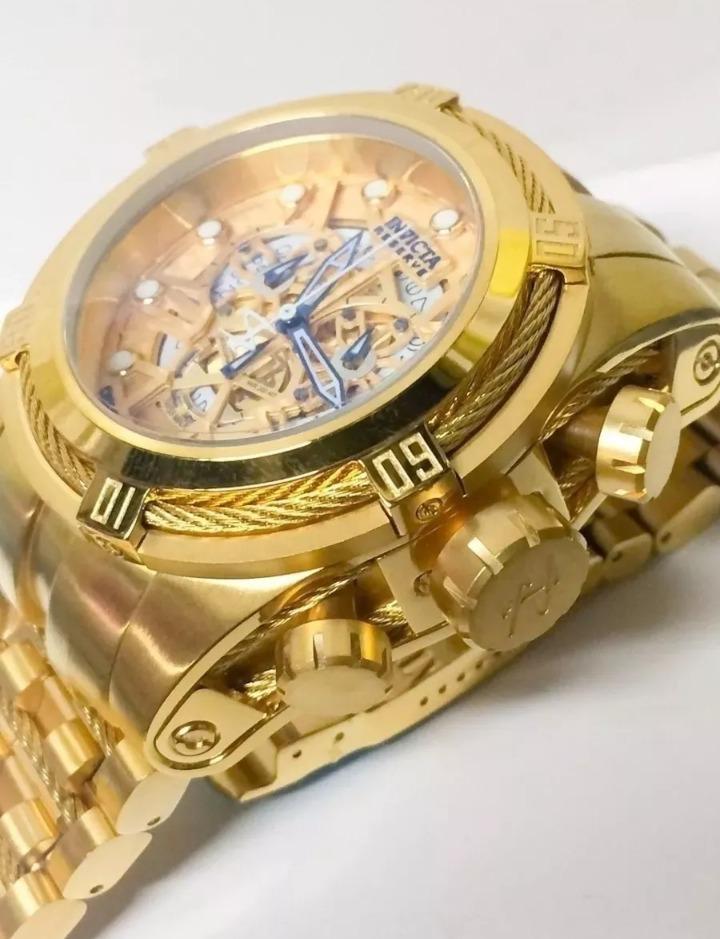 07dc5a8baac Relógio Invicta Zeus Skeleton 12903 Gold Original Promoção!! - R  549