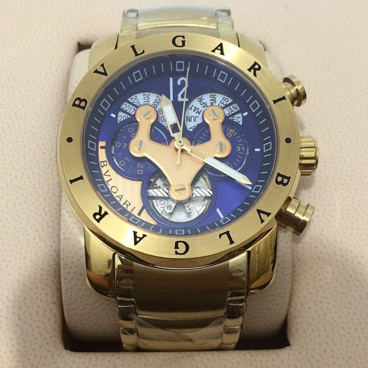 fa20c5725a7 relógio iron man 3d dourado automático detalhes azul aço. Carregando zoom.