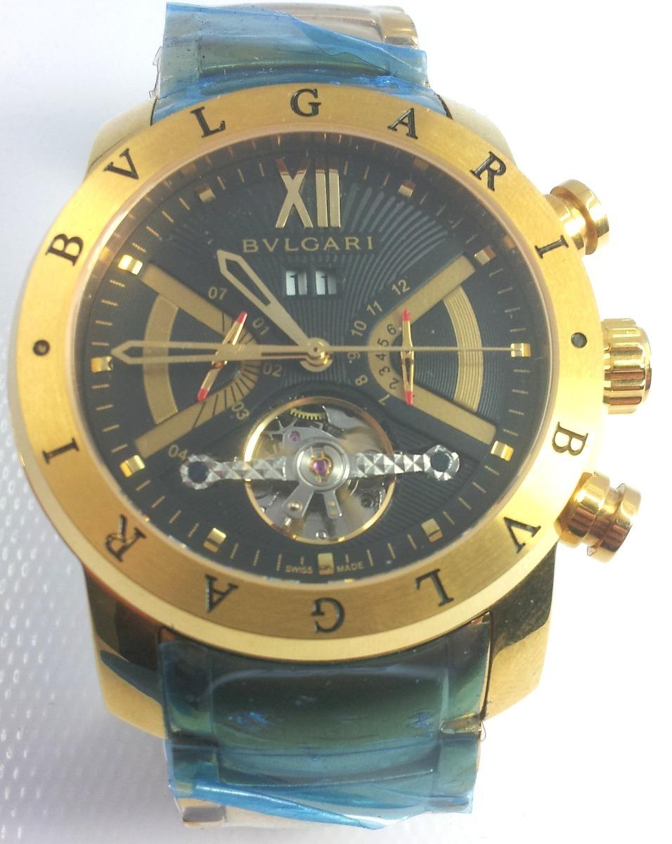 aa214c6d4c7 relogio iron man bulgari automatico produto ouro preto ofert. Carregando  zoom.