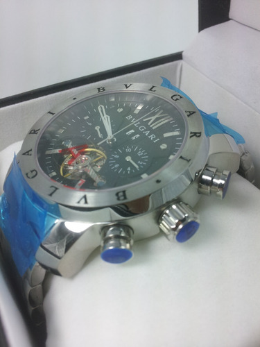 2db19c2bcbe relógio iron man bulgari preto masculino automatico sedex. Carregando zoom.
