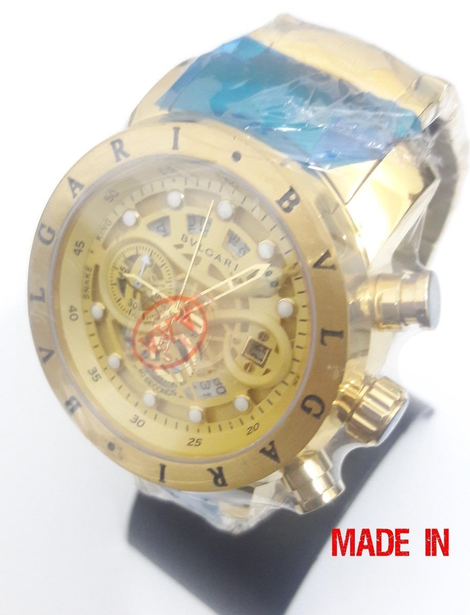 53669c81a67 relogio iron man cobra bullgari vidro safira bateria ouro. Carregando zoom.