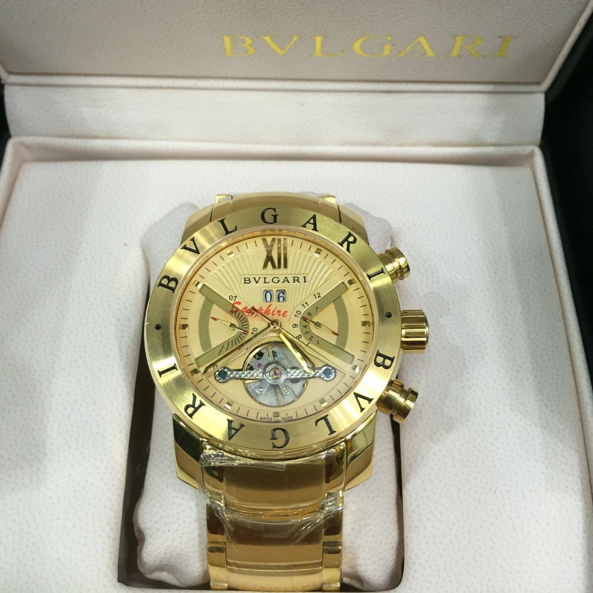 09a950ec3dc relógio iron man dourado automático fundo dourado aço. Carregando zoom.