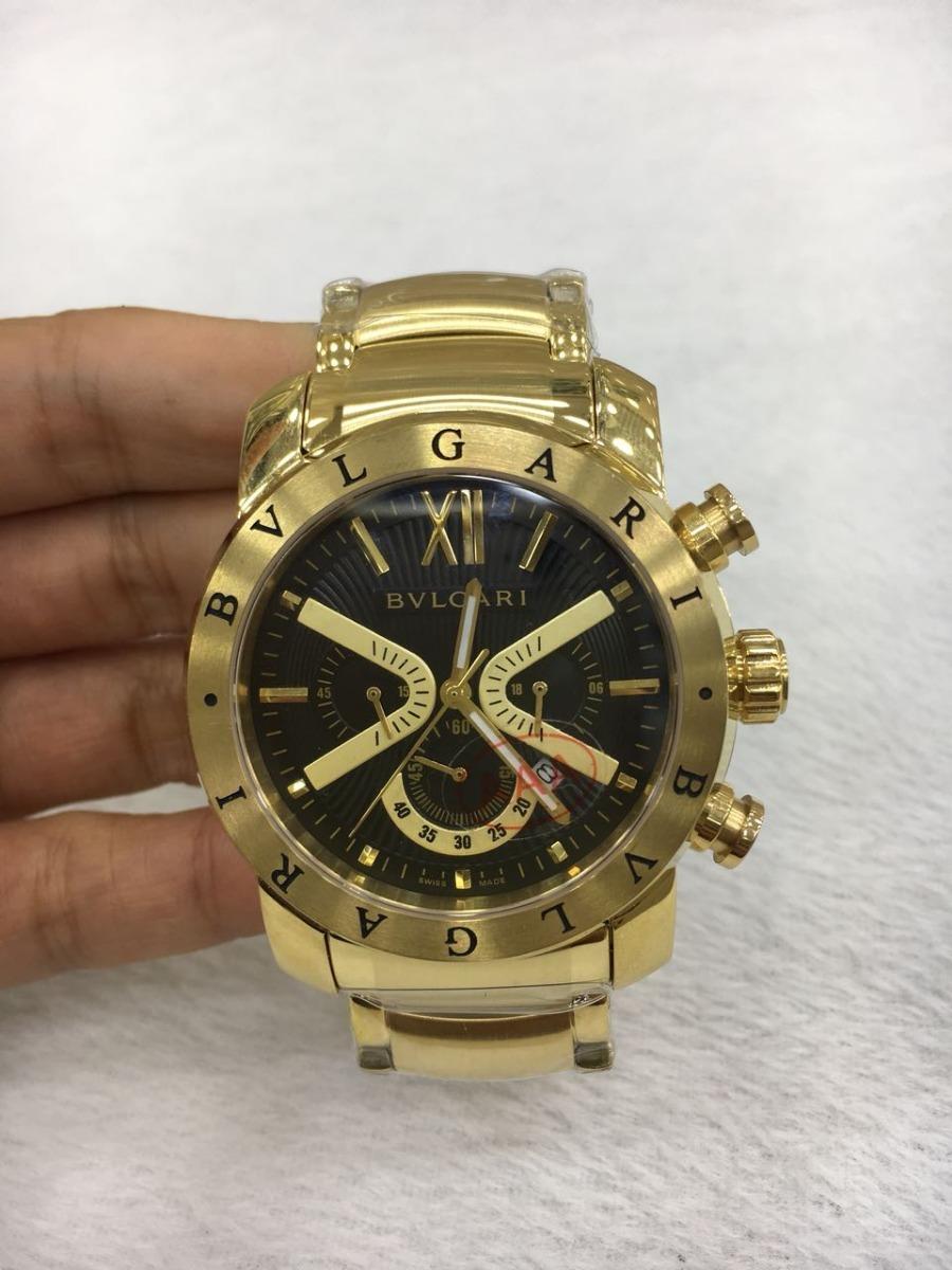 d6d049e119e relógio iron man quartz dourado fundo preto e dourado aço. Carregando zoom.