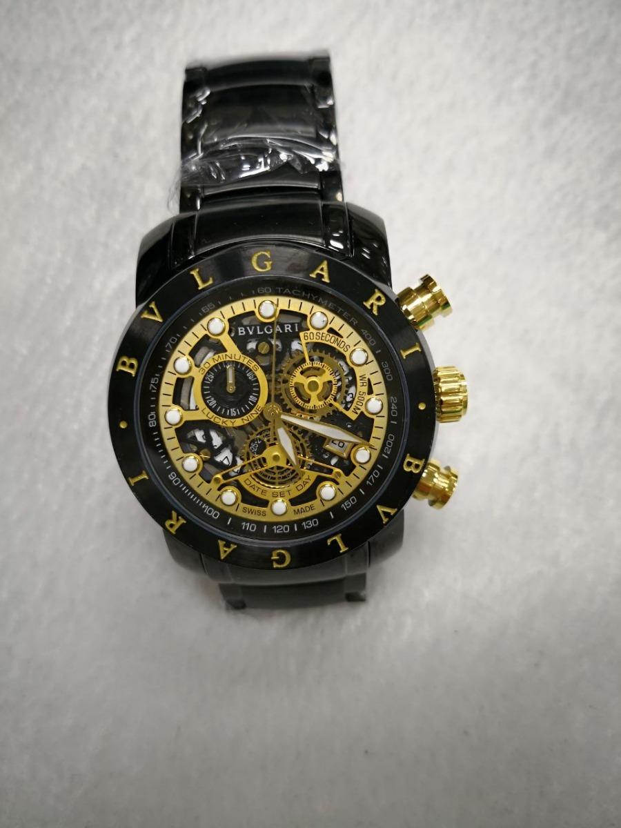 39841ee0bc8 relógio iron man skeleton preto fundo dourado aço. Carregando zoom.