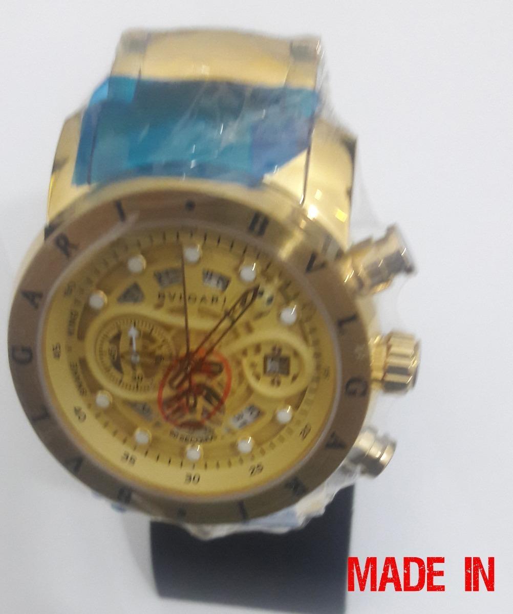 674515e28c8 relógio iron man subaqua dourado todo funciona skeleton. Carregando zoom.