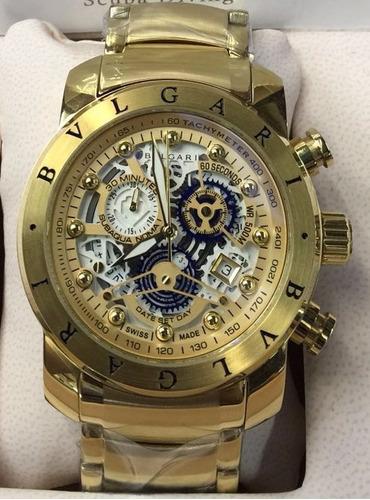 6e2f4032217 Relógio Iron Man Subaqua Masculino Dourado Top 12x Skeleton - R  479 ...