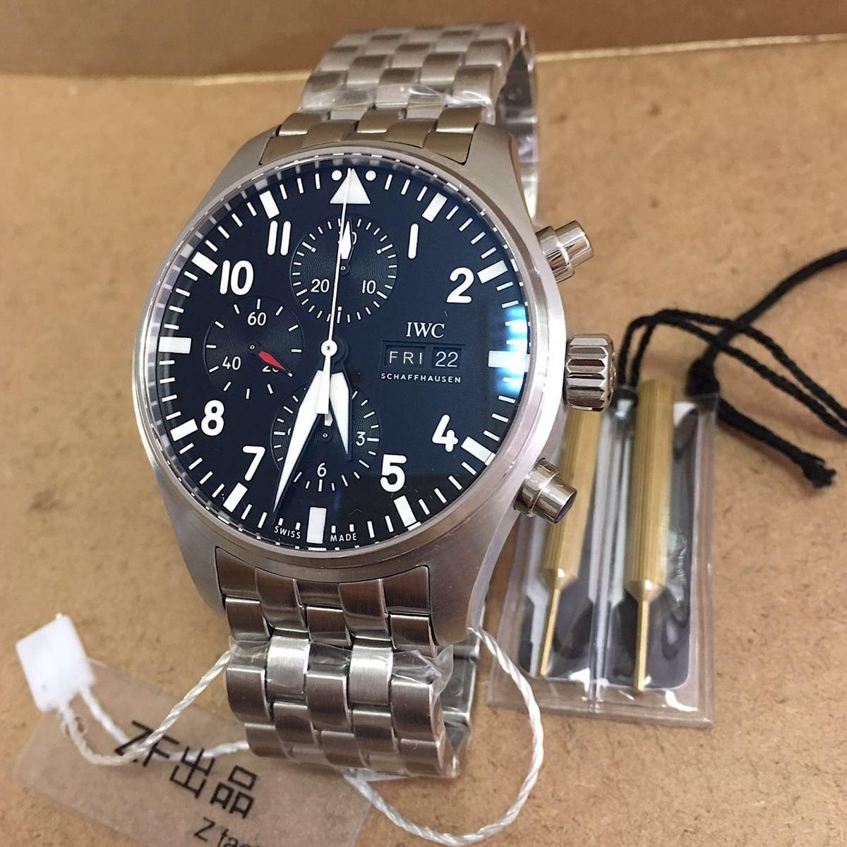 cb09a7aabe5 relógio iwc pilot eta a7750 automático. Carregando zoom.
