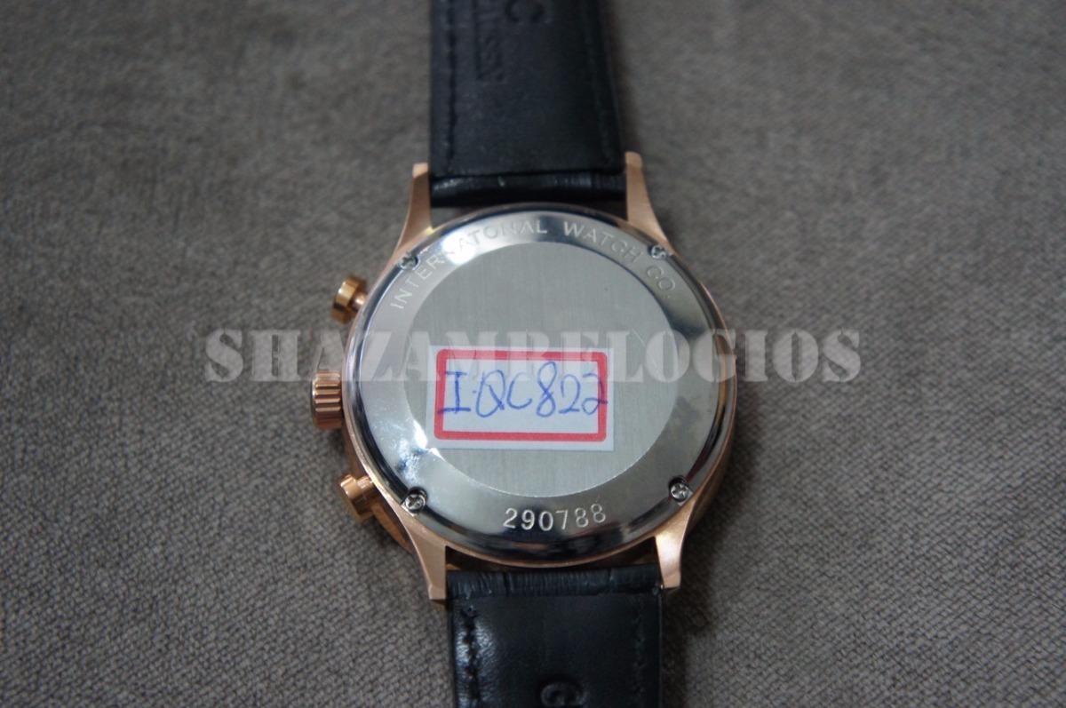 0b90380a758 relogio iwc portuguese rose gold white dial. Carregando zoom.