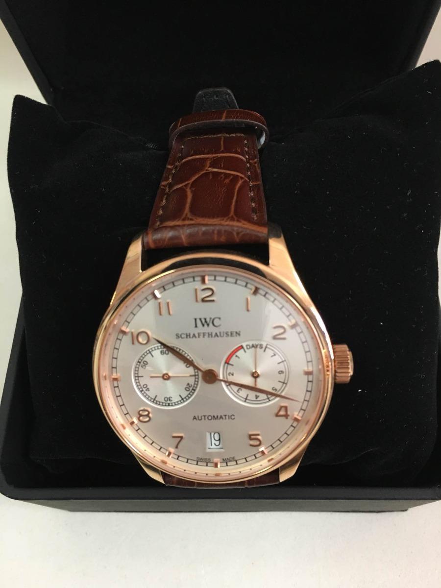 7838718066d relógio iwc schaffhausen rosé f branco auto+ caixa e garanti. Carregando  zoom.