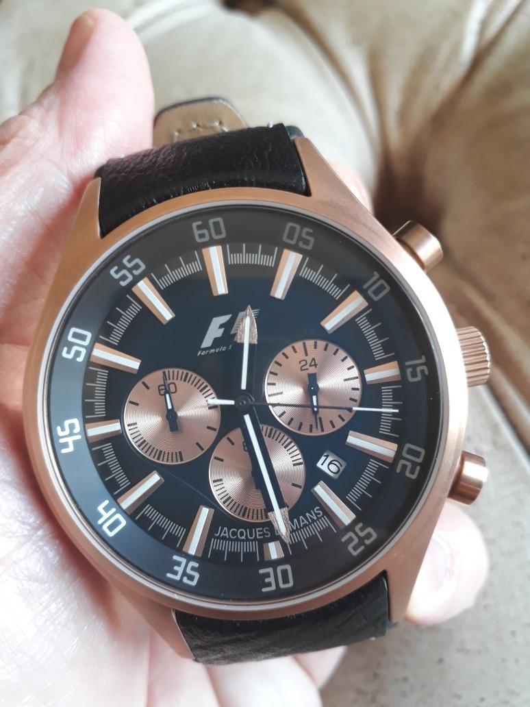77cc8d9c547 relógio jacques lemans f1 - 45mm - quartz - muito novo !!!! Carregando zoom.