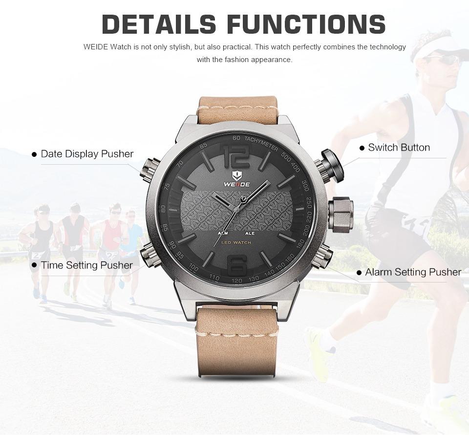 d49345042f9 relógio japan weide masculino anadigital couro. Carregando zoom.