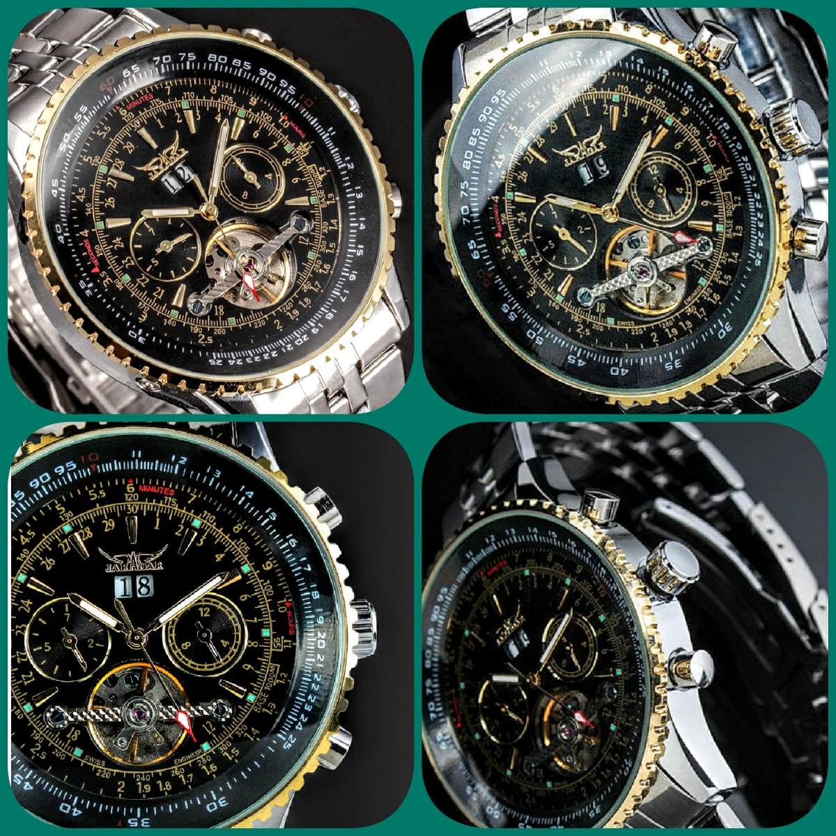 cd3c0be5898 Relógio Jaragar Tourbillon Luxury Pronta Entrega - R  240