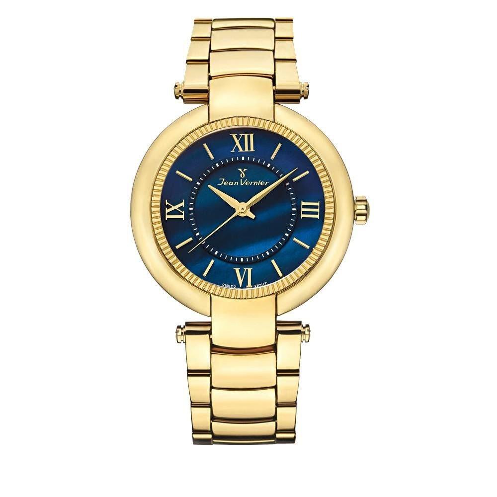 ef6ea1af95d relógio jean vernier feminino ref  jv1142 fashion dourado. Carregando zoom.