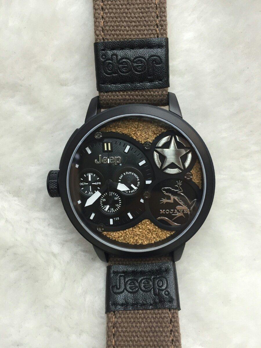 82acef88060 Relógio Jeep Original + Caixa Manual + Garantia 18 Meses - R  1.290 ...