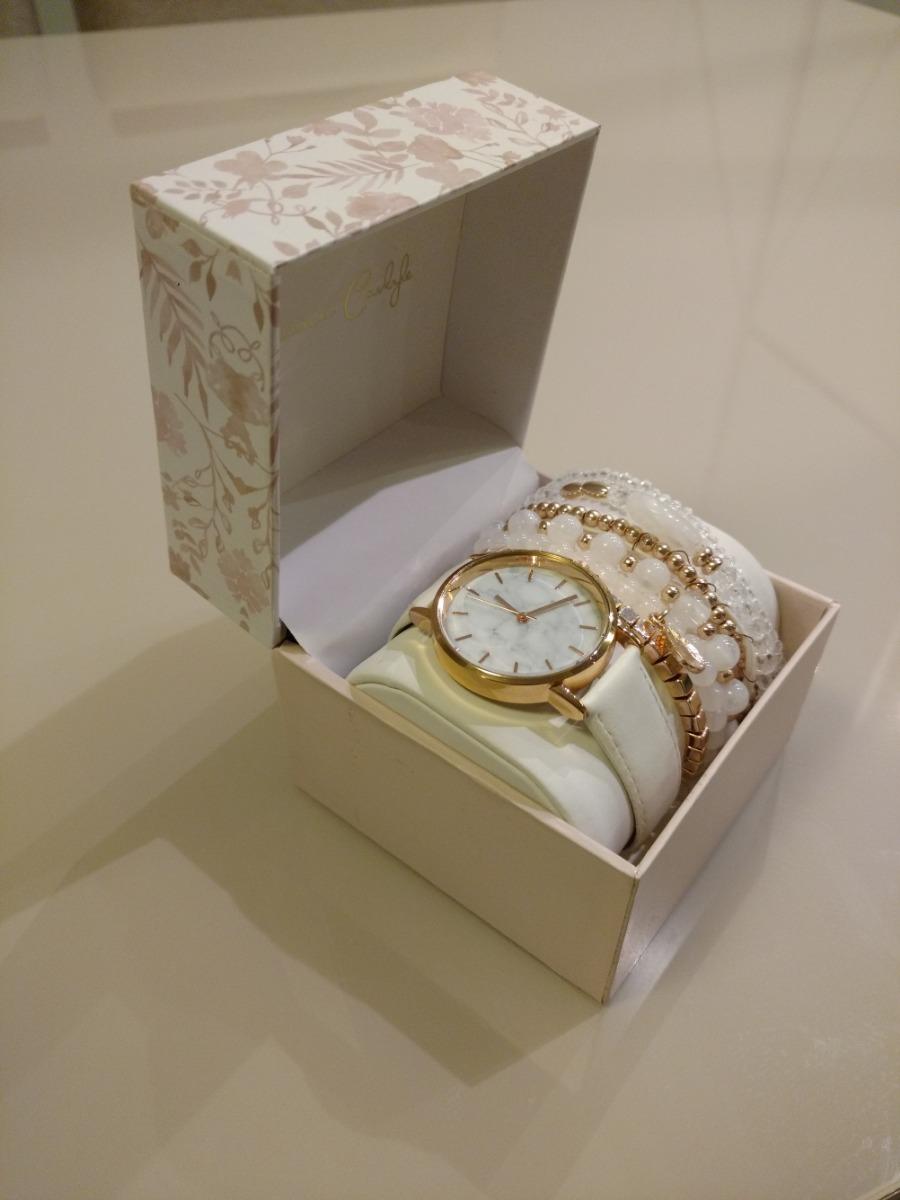 1c7387f2d8c relógio jessica carlyle feminino branco e rose gold. Carregando zoom.