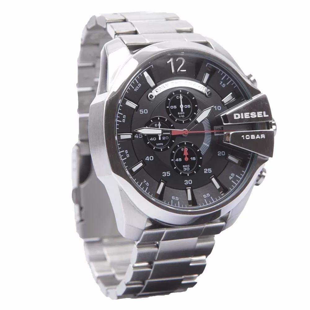 361ccc1b9e7 relógio jjk4439 diesel dz4308 prata fundo preto manual caixa. Carregando  zoom.