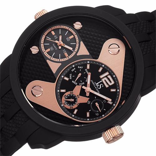 relógio joshua & sons dual time js-52-rg