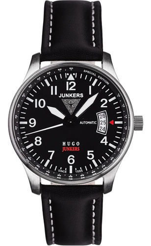 relógio junkers 6664-2 series hugo junkers automático pilot