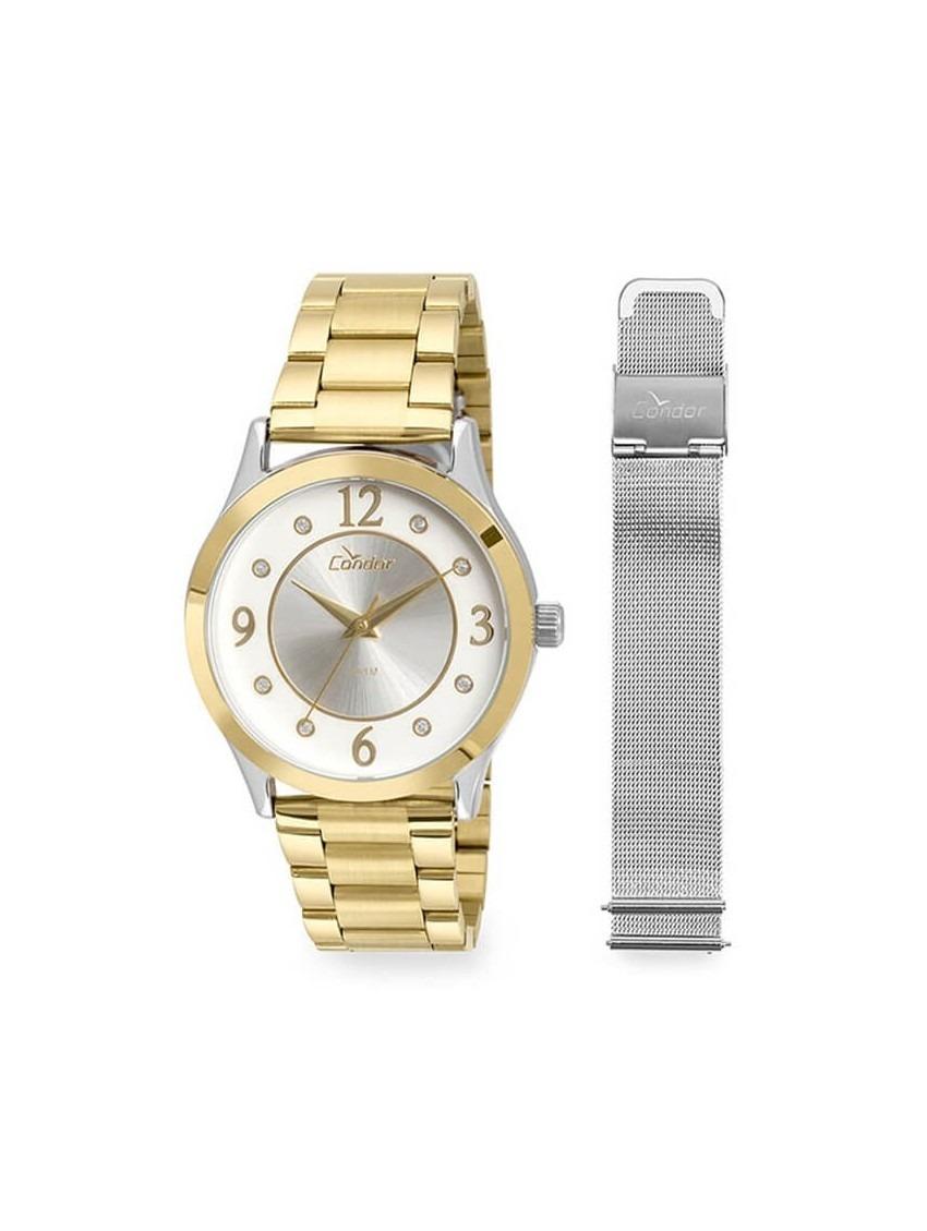 ff79604afaa relógio kit condor feminino 2 pulseiras social co2036ktu k5k. Carregando  zoom.