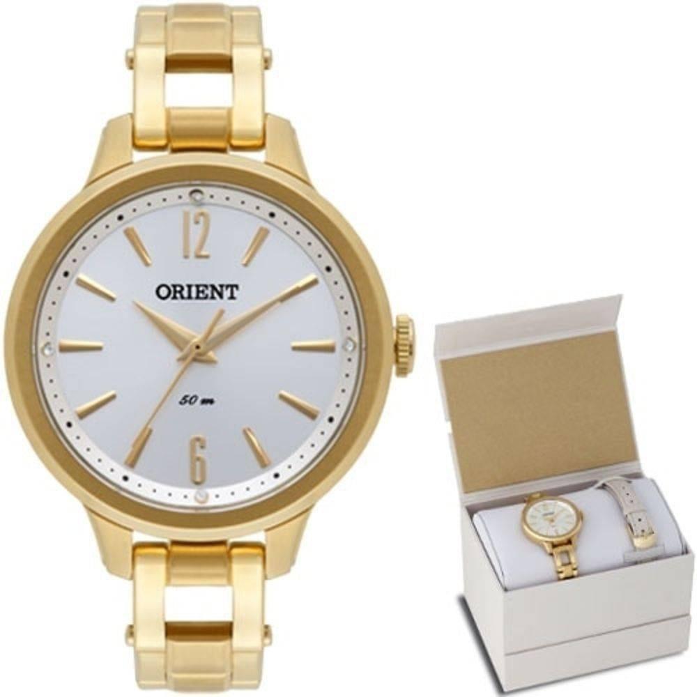 994cccaf83a relógio kit orient feminino dourado duas pulseiras fgss0066. Carregando zoom .