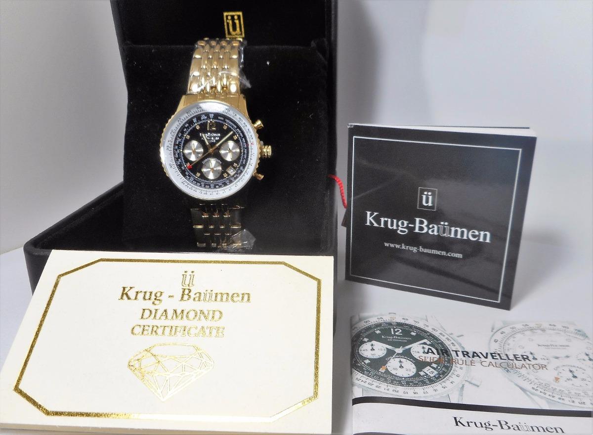15c697419f9 relógio krug baumen - banhado a ouro-com 8 diamantes. Carregando zoom.