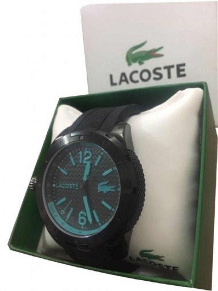 df8454f0303 relógio lacoste 91021190 pulseira de borracha. Carregando zoom.