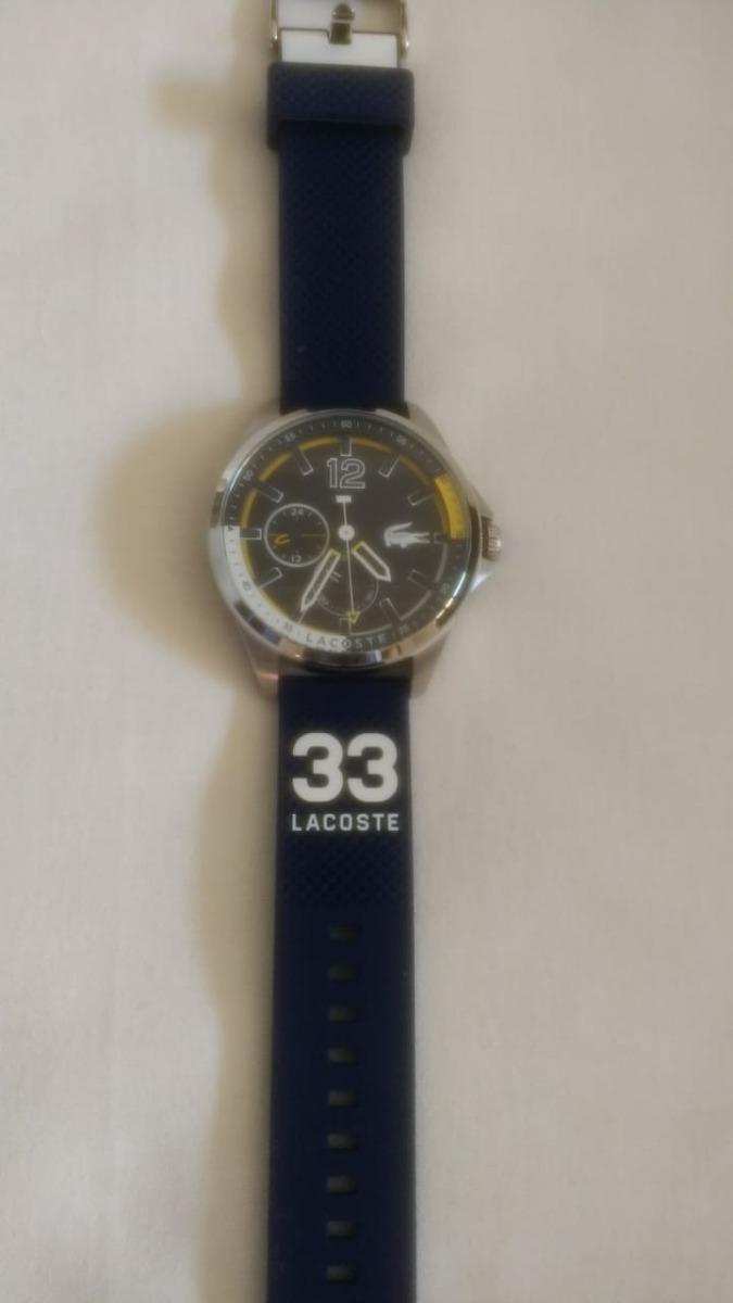 8c6660fbd70 relógio lacoste masculino capbreton náutica silicone 2010897. Carregando  zoom.
