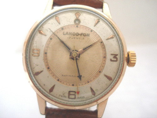relógio lanco fon despertador plaquê ouro antigo coleção