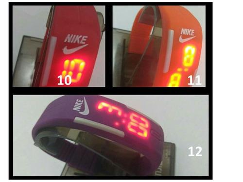 relógio led digital  nike kit c\15 un  pul sil(veja o video)