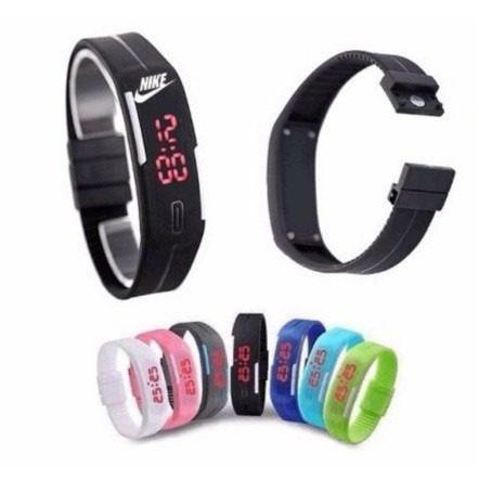 relógio led digital sport nike pulseira silicone/ 2 bateria