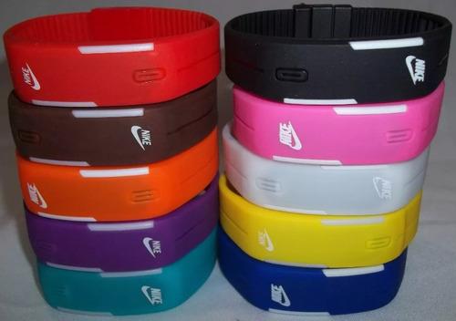 relógio led digital sport nike pulseira silicone bracelete.